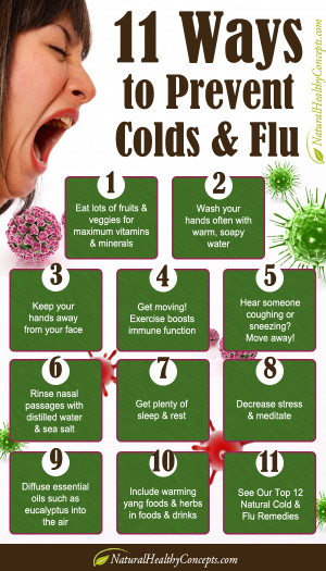 How to prevent catching a cold (or get better from a cold quicker!)