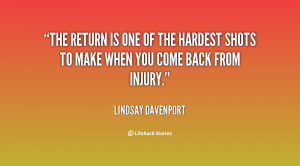 Coming Back From Injury Quotes