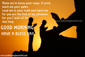 Good Morning Spiritual Quotes – Morning Prayer for your day