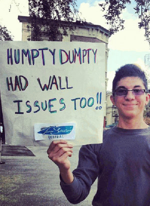 25 Funniest Running Signs At A Race: #23. Humpty Dumpty had wall ...
