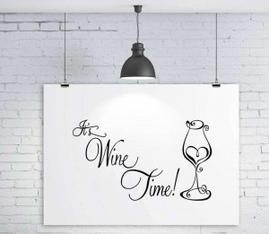 Its wine time wall sticker quote decals