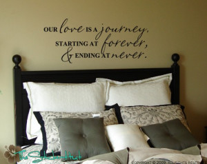 Our Love is a Journey Quote Saying Vinyl Wall Art Lettering Decals ...