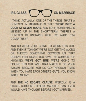 Ira Glass on Marriage...