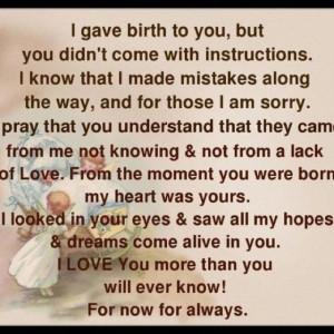 Mom to daughter - so true!