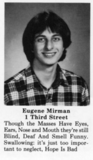 Selection of funny yearbook quotes.