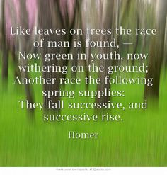 ... race of man is found - The Iliad of Homer, Alexander Pope translation