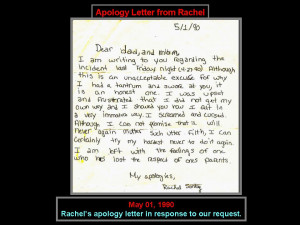 quotes in an apology letter to your mother