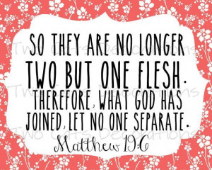 bible verse about marriage becoming one | Bible Verse Scripture for ...