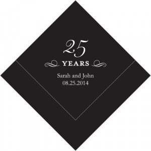 25 Years Printed Napkins