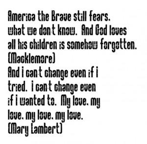 ... Same Love - song lyrics, song quotes, music lyrics,music quotes, songs