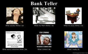 Bank Teller, can't believe there's one of these lol @Danielle Davis ...