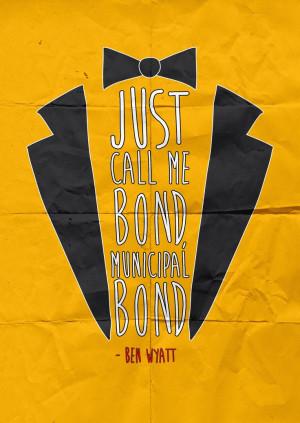... and Rec. 5. JUST CALL ME BOND, MUNICIPAL BOND. Ben Wyatt - S05E07