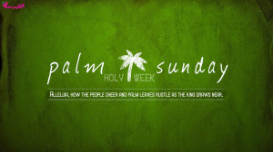 Palm Sunday and Holy Week Picture and Quotes