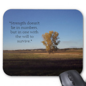 Strength Doesn't Lie in Numbers... Mouse Pad