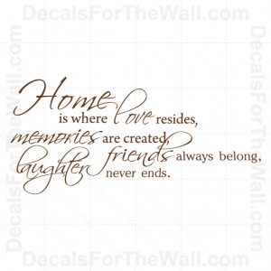 family personalized wall decals quotes