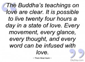 the buddha's teachings on love are clear