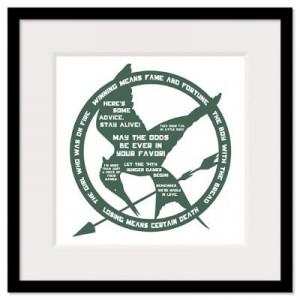 ... Wall Art > Framed Prints > Hunger Games Quotes Wall Art Framed Print