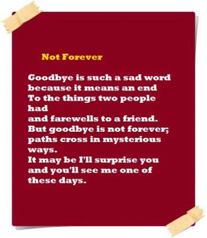 Short Sad Goodbye Poems