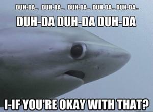 Scared shark…