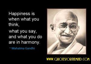Gandhi, Happiness