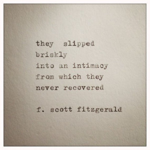 Scott Fitzgerald Love Quote Made On Typewriter by farmnflea, $9.00