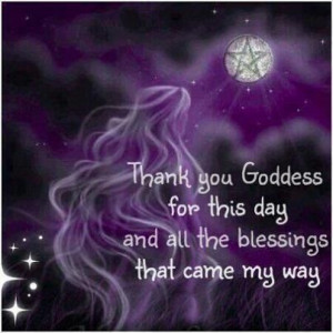 Goddess blessings