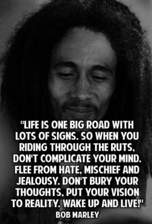 bob marley, famous, live, love, quote, singer, true