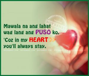 Tagalog Cheesy Love Quotes and Pinoy New Cheesy Quotes - Boy Banat