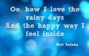 neil sedaka, how I love the rainy days
