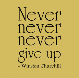 Winston Churchill Quote 'Never never never give up' by InitialYou, $16 ...