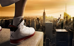Basketballer Shoes Skyscapers HD Wallpaper