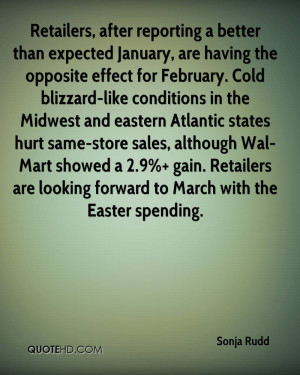 ... January, Are Having The Opposite Effect For February.. - Sonja Rudd