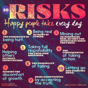 10 risks happy people take everyday