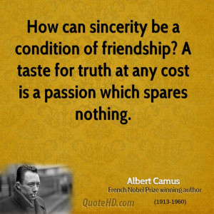 How can sincerity be a condition of friendship? A taste for truth at ...
