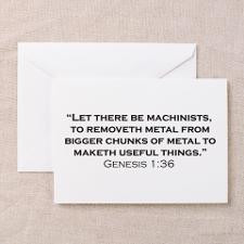 Machinist / Genesis Greeting Card for
