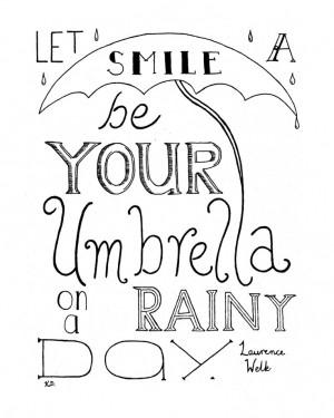 ... Rainy Day, Laurence Welk Quote, Rainy Day Print, Rain Quote Print,. $