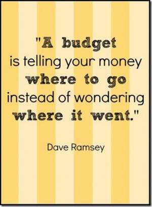 Budget is telling your money where to go instead of wondering where ...