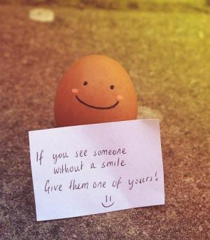 Make someone smile quote