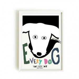 DOG quote poster 2 -DOG poster- art print by nicemiceforyou