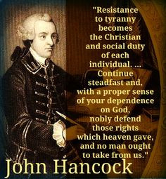 Resistance to tyranny becomes the Christian and social duty of each ...