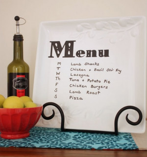 What's for dinner? Menu