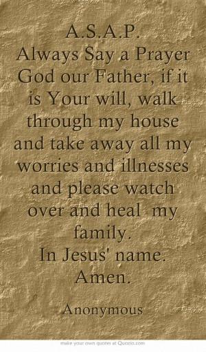 Catholic Prayer, Healing Prayer Quotes, Families Bible Quotes ...