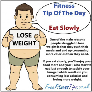 Fitness Quotes Of The Day | Fitness Tip Of The Day – Eat Slowly ...