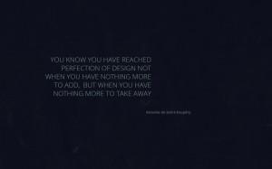 Antoine de Saint Exupery quote wallpaper desktop dark design 1920 1200 ...