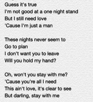... this image include: stay with me, song, sam smith, Lyrics and quote