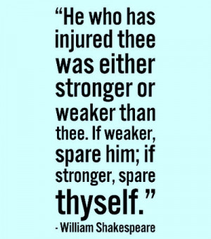 He who has injured thee was either stronger or weaker than thee. If ...