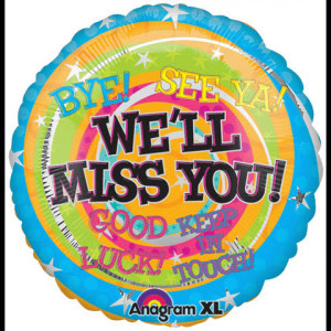 we will miss you uninflated item a17964 5 95 bye see ya good luck we ...