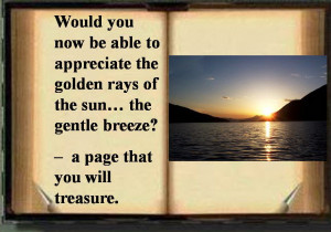 ... Rays of The Sun, The Gentle Breeze! A Page That You Will Treasure