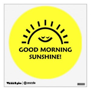 Good Morning Sunshine Wall Sticker