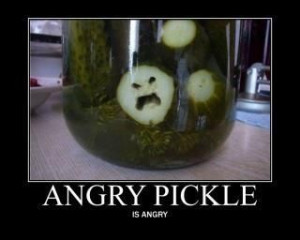 Angry Pickle Is Angry - you'd be made too if you were at the bottom